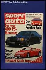 Sport Auto 10/87 Treser Roadster M3 Cabrio Bentley Turb