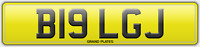 BIG REG B19 LGJ NUMBER PLATE INITIALS REGISTRATION ASSIGNED FREE NO FEES RARE LJ