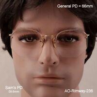 AO Rimway Ful-Vue  - 12k Gold Fill  -  True Antique Eyeglasses & Case