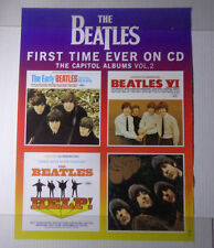 "X  FIRST TIME EVER ON CD-BEATLES  POSTER promo-18 x 24""@APPLE CAPITOL"