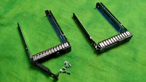 """HP Genuine G8 Gen8 651687-001 SFF 2.5"""" Tray Caddy w/ screws LOT OF 2 w/CHIP  @6"""