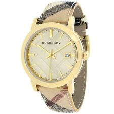 Burberry BU9026 The City Champagne Dial Check Strap Women's Watch