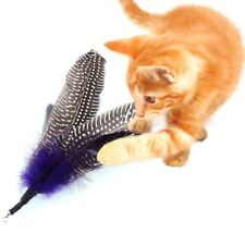 Us 5Pc Pet Cat Kitten Feather Refill Replacement Wand Interactive Teasers Toys