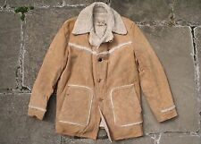 VTG 70s LEE STORM RIDER SUEDE LEATHER SHEARLING WESTERN RANCH COAT JACKET 46L