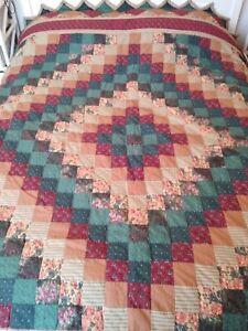 "Vintage Patchwork Quilt Double/King Bedspread 96""x104"""