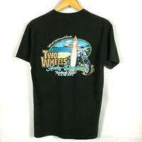 Harley-Davidson Men's T-shirt Size Medium Two Wheels Hawaiian Beach Scene EUC