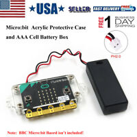 Micro:bit Protective Case Acrylic Case AAA Cell Battery Box  for BBC Micro:Board