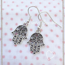 Orecchini Mano Fatima Hamsa Khamsa Earrings Cute Vintage Hipster Indie Fortuna
