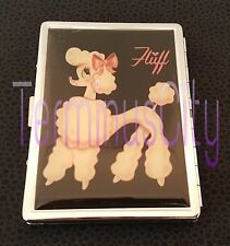 FLUFF PIXIE POODLE METAL ID CASE Business Credit Card Money Clip French Dog OOP