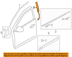 Lincoln FORD OEM 10-18 MKT Front Door-Applique Window Trim Left BE9Z7420555BA