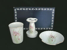 Japanese Iris Bathroom Set Tooth Brush Holder / Cup / Soap Dish