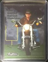 Jerry Glanville 1993 Skybox Prototype Card Motorcycle Blank Back Falcons 1/1