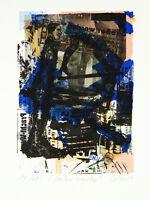Kunst in der DDR,1989. Kombinationsdruck Frank VOIGT (*1946 D), handsigniert