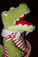 "NWT Maison Chic 13"" Dressed Girl Alligator Plush Stuffed Animal - 84610 - 2012"