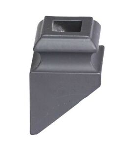 Angled Collar For 12mm Square Spindles Satin Black