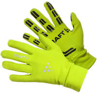 Craft Thermal Cycling Gloves Yellow Reflective Silicone Grips Bike Cycle Race