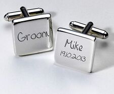 Personalised Wedding Cufflinks, Unique Keepsake Favour Gift, Present for Him #2