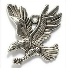 10pcs antiqued silver eagle pendant G1556
