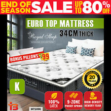 Royal Sleep Mattress Bed Euro Top 9 Zone Pocket Spring, King Size