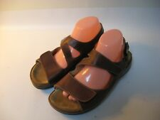 WOLKY Liana Women's Brown Leather Comfort Sandals - EU 41 (US 9.5-10)
