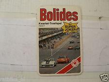 49-BOLIDES RACE CARS 0  KWARTET KAART, QUARTETT CARD,