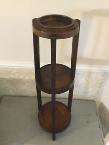 Vintage wooden Art Deco style plant stand hall display table