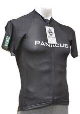 Panache V-Lab Short Sleeve Race Fit Jersey Men XL Black Road Bike Aero Zip Front