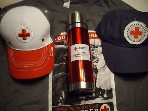 American Red Cross hats, shirt, water  bottle , New, with tag,