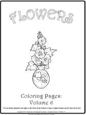 """Malbuch 53 Malvorlagen """" Blumen Nr.6 """" Ausmalbilder als PDF * Kinder malen"""