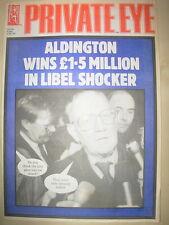 PRIVATE EYE MAGAZINE No 730 DECEMBER 8 1989 ALDINGTON WINS £1.5 MILLION IN LIBEL