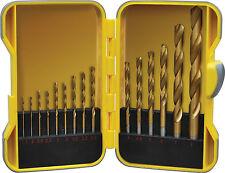 Builders Brand 15 pezzi Rivestito in Titanio Set Punte Trapano caso, Multi di