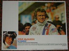 STEVE McQUEEN, LE MANS (LE 24 ORE DI LE MANS), LOBBY CARD 1, ORIGINALI US POSTER