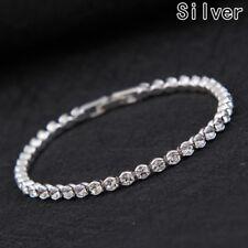 Exquisite Rhinestone Crystal Tennis Bracelet Zircon Beads Bracelet Bangle Chains