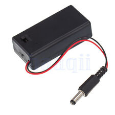 9V Battery Spring Clip Slot Holder Case With On/Off Switch DC Plug Power Jack
