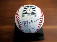CARL YASTRZEMSKI HOF 89 BOSTON RED SOX SIGNED AUTO HOF OML BASEBALL STEINER MLB