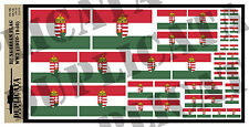 Diorama Accessory - Hungarian Flag - WW2  - 1/72, 1/48, 1/32, 1/35
