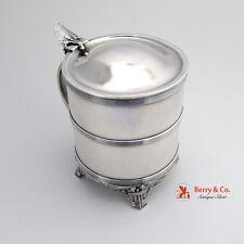 Amazing Lotus Lidded Tankard Condensed Milk Container Sterling Gorham 1865