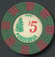 Ponderosa Hotel Reno 3rd Issue $5 Chip 1983 R7