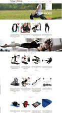 Exercise & Fitness Store - eCommerce Website + Amazon Affiliate + Free Hosting