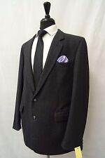 Men's Guards Charcoal Pinstripe Vintage Suit 46L W40 L29 CC5194