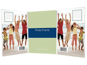 Bent Acrylic Picture Frame 5x7 Triple Vertical (Same Shipping Any Qty)