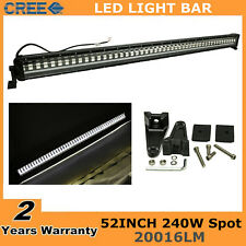 "52"" 240W Cree Flash Strobe Led Light Bar Spot 4WD OffRoad Driving Lamp VS 300W"