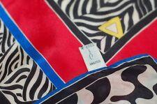 Oscar de la Renta Womens Scarf Silk Square Multi-color Vintage