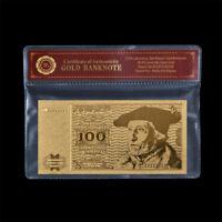 WR Gold banknote alter 100 D Mark Schein 1960s Goldgeld Sammlergegenstand