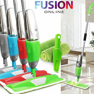 700Ml Spray Mop Water Spraying Floor Cleaner Tiles Microfibre Marble Kitchen