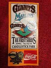 San Francisco Giants Florida Marlins 1993 1st Ever Series MLB Pin