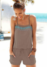 UK Womens Summer Strappy Mini Playsuit Ladies Jumpsuit Top Dress Beach Holiday