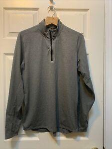 Nike Mens M Element Sphere Half-Zip Running Shirt Heather Grey Reflective Silver