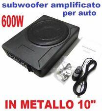 SUBWOOFER AMPLIFICATO AUTO CAR METALLO 600W 10