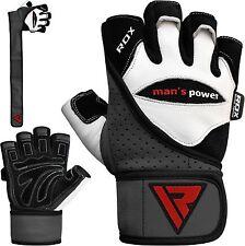 RDX Weight Lifting Gloves Half Finger Training Gym Straps Fitness Bodybuilding Q